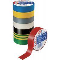 Ruban isolant 10 rôles Isoband électricien ruban adhésif 10 m x 15 mm Noir