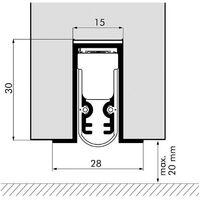 Joint de bas de porte automatique EllenMatic Insonorisé 708 mm sans support de montage