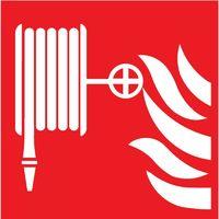 Panneaux autocollant nl 150x150mm Tuyau incendie ISO