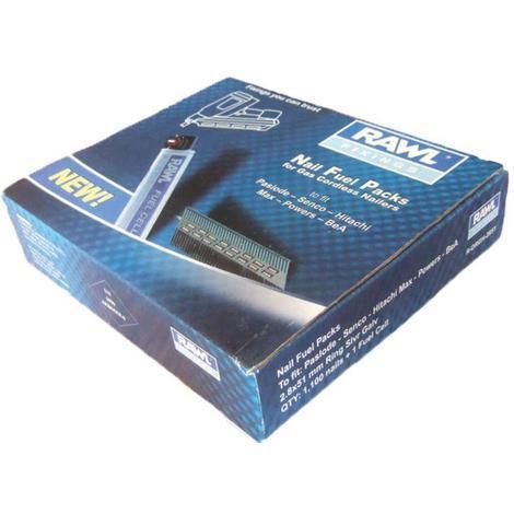 Rawlplug 3.1x75mm ring silver galv nails 1100+ 1 fuel cell