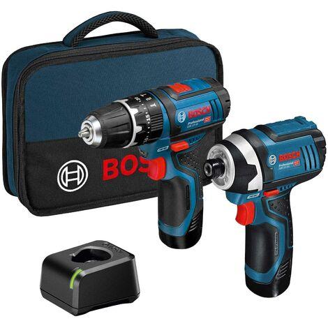 Bosch GSB 12V-15 + GDR 12V-105 2x 2.0Ah Twin Kit