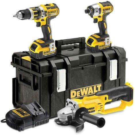 DeWALT DCK382M2-GB 18v 3 Pce Brushless Twin Kit plus Grinder