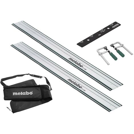 Metabo Plunge Saw Guide Kit 2 x Guide Rails, Joining Bar, Bag & Clamps