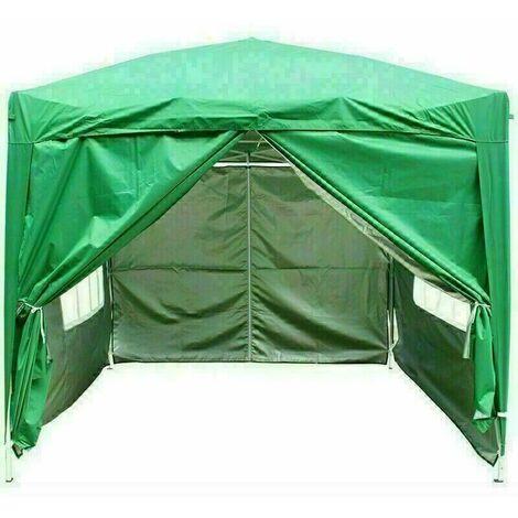 3 x 3m Garden Pop Up Gazebo Marquee Patio Canopy Wedding Party Tent - Green