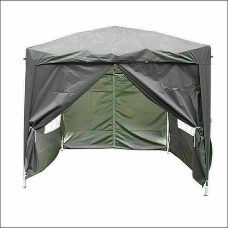 3 x 3m Garden Pop Up Gazebo Marquee Patio Canopy Wedding Party Tent - Anthracite