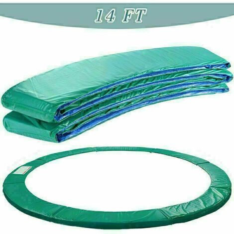 Trampoline Replacement Safety Spring Cover Padding Green Pad - 14ft