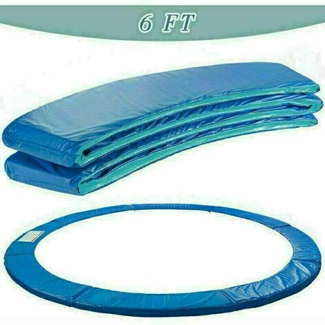 Trampoline Replacement Pad Safety Spring Cover Padding Blue -6ft
