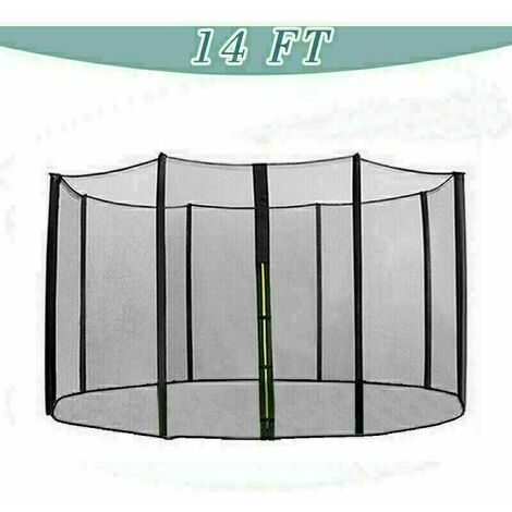 Trampoline Replacement Safety Net Enclosure Surround Netting - 14ft