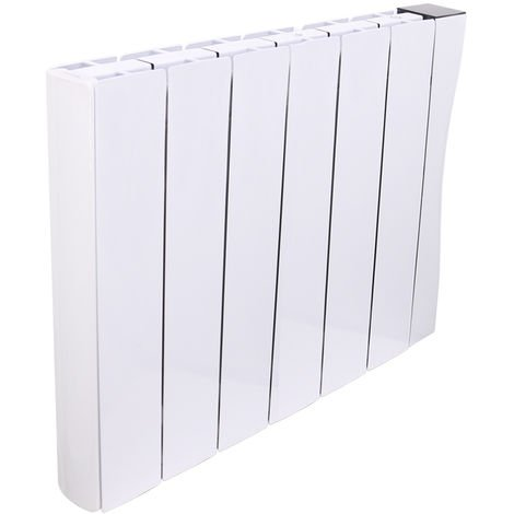 Wifi Oil Filled Electric Radiator 575 x 713 mm White Wall or Floor Mounted 1500W