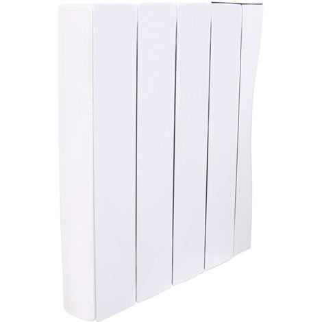 Oil Filled Electric Radiator Wifi 575 x 516mm White Wall or Floor Mounted 1000W