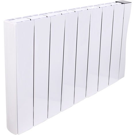 Wifi Oil Filled Electric Radiator 575 x 942 mm White Wall or Floor Mounted 2000W