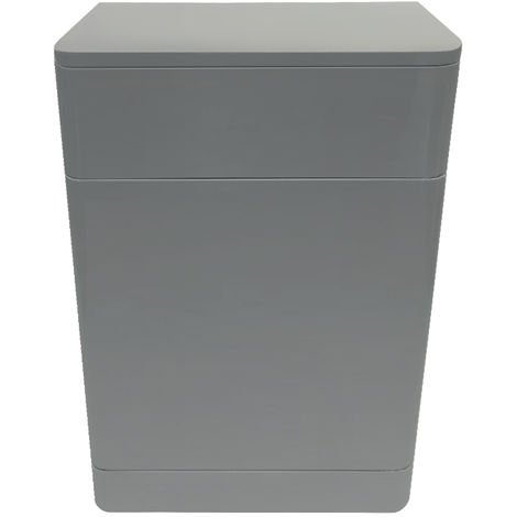 Back To Wall Toilet Concealed Cistern Unit Bathroom Furniture 500mm Gloss Grey