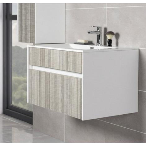 Soul Ash Grey 800mm Wall Hung Vanity Unit & Basin