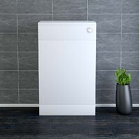 500mm White Back to Wall Unit with Concealed Cistern (No Toilet/Pan)
