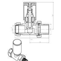 Designer Radiator 15mm Manual Chrome Straight Valves Pair