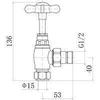 Radiator Traditional 15mm Manual Valves 2PC/Box