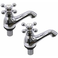 Traditional Bathroom Basin Tap Chrome Hot & Cold