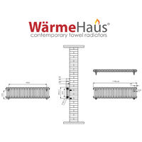 Traditional Cast Iron Style Anthracite Double Horizontal Radiator 300 x 1190mm