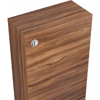 500mm Walnut Back to Wall Unit with Concealed Cistern (No Toilet/Pan)