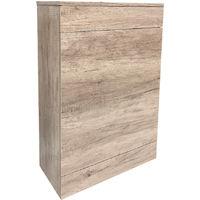 Back To Wall Toilet Cistern Unit Bathroom Furniture 500mm Light Oak Effect