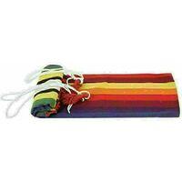 Canvas Hammock Portable Single Outdoor Garden Swing Camping Bed - Multi-Red