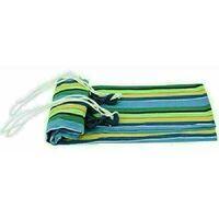 Canvas Hammock Portable Double Outdoor Garden Swing Camping Bed - Multi-Blue