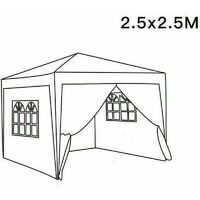 2.5 x 2.5m Garden Pop Up Gazebo Marquee Patio Canopy Wedding Party Tent- Red