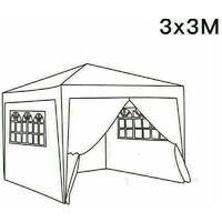 3 x 3m Garden Pop Up Gazebo Marquee Patio Canopy Wedding Party Tent - Beige