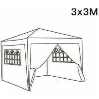 3 x 3m Garden Pop Up Gazebo Marquee Patio Canopy Wedding Party Tent - Black