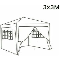 3 x 3m Garden Pop Up Gazebo Marquee Patio Canopy Wedding Party Tent - Blue