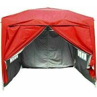 3 x 3m Garden Pop Up Gazebo Marquee Patio Canopy Wedding Party Tent - Red