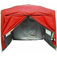 2 x 2m Garden Pop Up Gazebo Marquee Patio Canopy Wedding Party Tent- Red