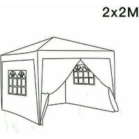 2 x 2m Garden Pop Up Gazebo Marquee Patio Canopy Wedding Party Tent- White