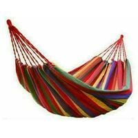 Canvas Hammock Portable Double Outdoor Garden Swing Camping Bed - Red