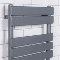 Juva 1200 x 500mm Sand Grey Flat Panel Heated Towel Rail -