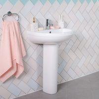 Lima Bathroom Suite with Left Hand 1500mm P Shape Shower Bath