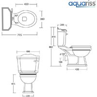 Abbey Traditional Close Coupled Toilet & Basin Cloakroom Suite