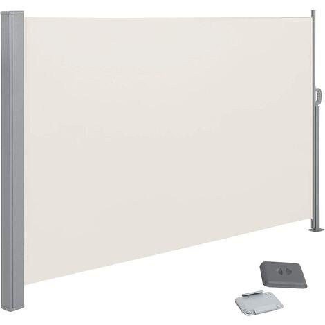 Toldo Lateral para Balcón y Terraza, 180 x 350 cm (Altura x Longitud), Protección de la Intimidad, Protección Solar, Persiana Lateral, Taupe GSA185T02 - Taupe