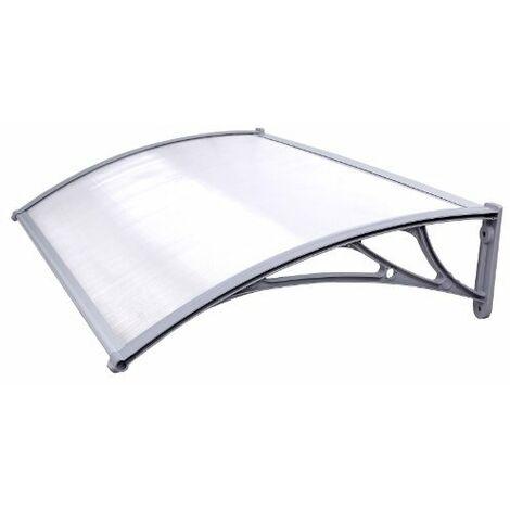 Toldo para terrazas Marquesina Canopy para puertas 125 x 75cm GVH017 - Transparente
