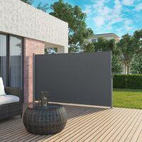 Toldo Lateral para Balcón y Terraza, 160 x 350 cm (Altura x Longitud), Protección de la Intimidad, Protección Solar, Persiana Lateral, Gris GSA165G02 - Gris