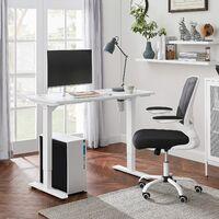 Escritorio eléctrico con Ajuste de Altura sin Escalas, Mesa de Trabajo motorizada, 120 x 60 x (73-114) cm, Acero, Blanco LSD011W01 - Blanco