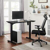 Escritorio eléctrico con Ajuste de Altura sin Escalas, Mesa de Trabajo motorizada, 120 x 60 x (73-114) cm, Acero, Negro LSD011B02 - Negro