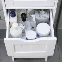 Armario de almacenaje Organizador Armario para Cocina Baño con 4 cajones 30 x 30 x 82cm Blanco LHC40W - Blanco