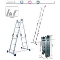 Échelle Pliable articulée multifonction 3,7 mètre(s), EN 131, Charge maximale: 150 kg
