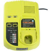Chargeur rapide de batterie compatible Ryobi P117 Chargeur 3A 12V-18V Hobby Tech