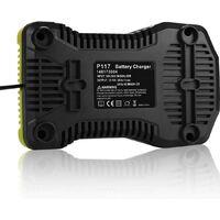 Chargeur de batterie compatible Ryobi P117 Chargeur de batterie 3A 12V-18V Hobby Tech