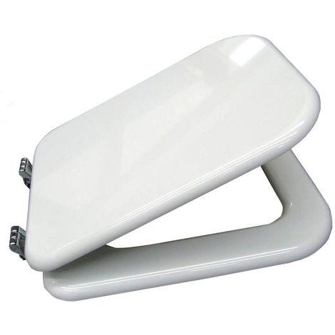 Sedile Copri Wc Coprivaso Compatibile Ideal Standard Serie Conca In Poliestere Copriwater Anima In Legno Bianco Cerniere Cromate