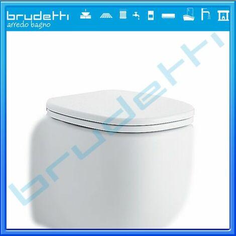 Sedile Wc Compatibile Pozzi Ginori 500 Copriwater Slim Termoindurente Bianco Cerniere Cromate