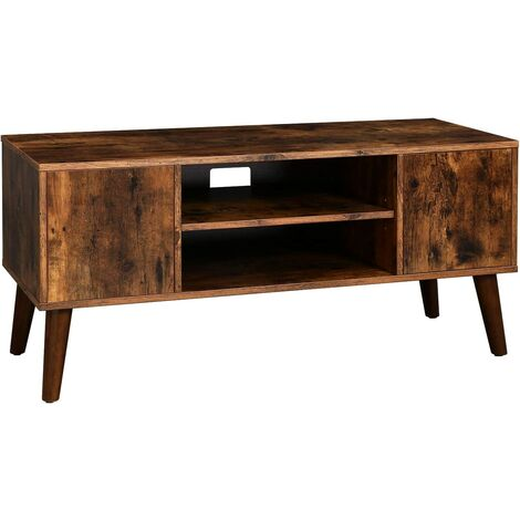 VASAGLE Retro TV Stand, TV Console, Mid-Century Modern Entertainment Center for Flat Screen TV, Cable Box, Gaming Consoles, in Living Room, Entertainment Room, Office by SONGMICS LTV08BX