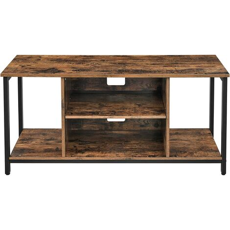 VASAGLE TV Stand, Cabinet with Open Storage, TV Console Unit with Shelving, for Living Room, Entertainment Room, Rustic Brown by SONGMICS LTV39BX - Rustic Brown